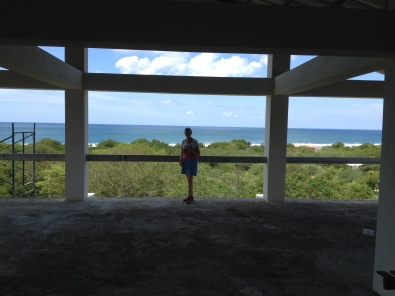 Me in Ron and Anas house.  Mine on the lot next door will be exactly the same.  Notice my view of the ocean.